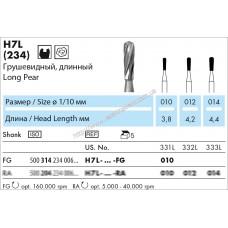 Турбинный  твердосплавный грушевидный, длинный H7L FG